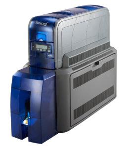 Datacard SD460 kortskrivare  Dubbelsidig utskrift av plastkort. Välj mellan enkel eller dubbelsidig laminering. Kan utrustas med magnetkodare, RFID och Smart Card läsare
