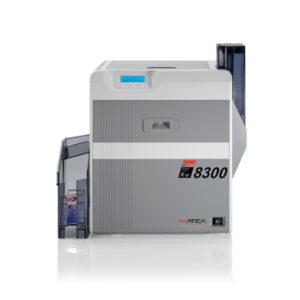 Matica XID8300 retransferskrivare 300dpi. Skriver ut dina kort med  höga säkerhets funktioner. UV-print, Micro print. Option ILM lamineringsenhet med hologram laminat .