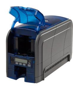 Datacard SD160 kortskrivare. Kan skriva med UV-färgband och på återskrivningsbara plastkort.