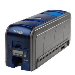Datacard SD360 kortskrivare  Dubbelsidig utskrift av plastkort. Kan utrustas med magnetkodare, RFID och Smart Card läsare