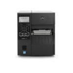 Zebra ZT410 etikettskrivare skrivare för industriell användning finns med flera olika optioner. USB, Ethernet, WiFi, BlueTooth, klippverk, peel off