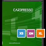 Gratis nedladdning av Cardpresso. Med denna demoversion kan du testa de olika versionerna av Cardpresso. XXS, XS, XM och XXL  https://www.cardpresso.com/downloads-cp