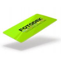 Ljusgrönt plastkort
